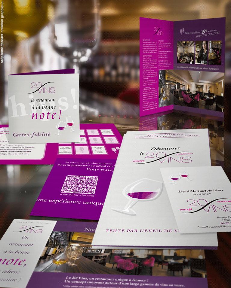 DESIGN GRAPHIQUE / restaurant le 20-sur-vins