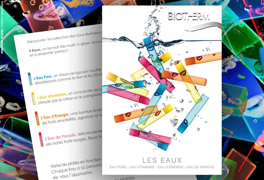 DESIGN GRAPHIQUE / flyer / biotherm
