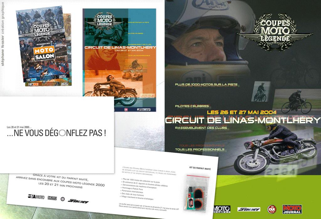 DESIGN GRAPHIQUE / invitation-affiche / coupes moto légende